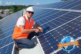 Solar Power: 5kW Inverter & 10kWh Lithium Ion Battery system installed