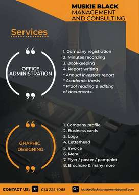 Office Administration and Graphic Desgn services