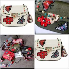 Embroidery butterfly bags