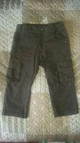 Spodnie bojówki khaki Babyface r. 80 12-18 miesięcy z kieszeniami