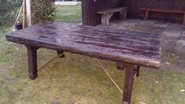 Stół ręcznie robiony z kantówki waga ok. 100 kg.