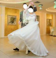 Свадебное платье с рукавами р.S