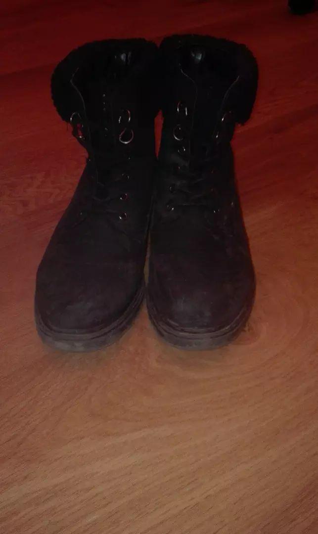 Černé zimní boty 0