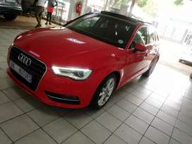 Red Audi A3 TFSI Automatic