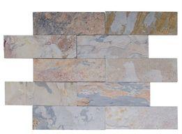 Płytka ELEWACYJNA– Łupek wielokolorowy AUTUMN 10x30x1 cm - ściany