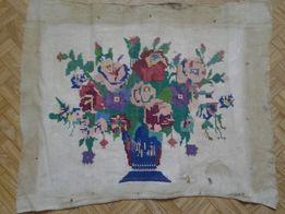 старинная вышивка крестиком лён