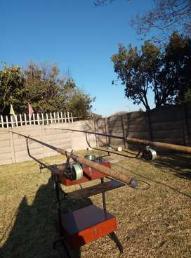 For Sale - Two Conoflex Customline Ultraflex 140 rods and 3 reels.