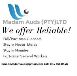 CLEANERS, NANNIES AND STAY IN MAIDS