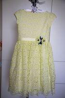 Стильное нарядное платье для девочки 122рост Нежное!