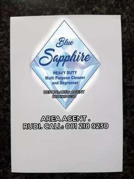 Heavy duty cleaning .Blue saphire.