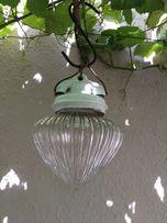 Lampa sufitowa antyczna porcelanowa szklana