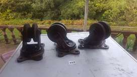 U type heavy duty metal swivel wheel casters