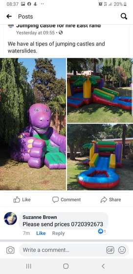 Jumping castle and waterslides to rent