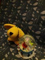 Эко-игрушка, желтая собачка, амигуруми
