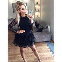 Nowa sukienka czarna z falbanką