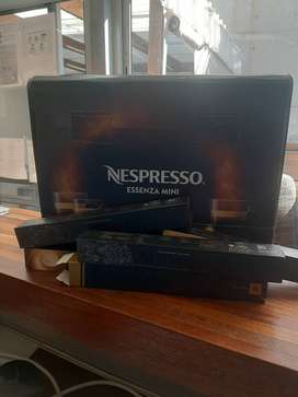 Brand new nespresso essenza mini coffee machine with capaules