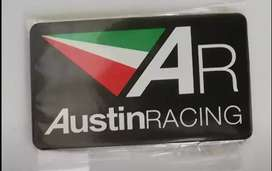 Austin Racing aluminum heat resistant exhaust badges emblems