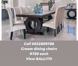 Dining chairs brand new cream pleather