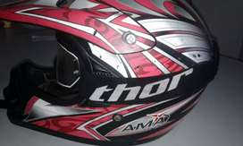 Ama Racing helmet and thor goggles