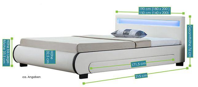 Кровать кожаная Bilbao 180х200 см. с LED подсветкой! Германия! Львов - изображение 6