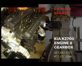 Kia K2700 engine and gearbox for sale