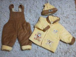 Осеннее - весенний комплект Мишка (комбинезон, курточка, шапка)