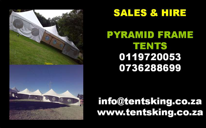 Stretch tents, pyramid frame tents, frame tents, pegs & poles tents, m 0