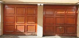 Single garage doors x2