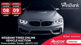 Timed Online WesBank Vehicle Auction
