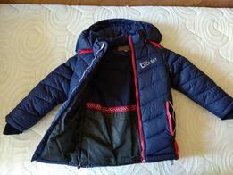 Теплое зимнее пальто, длина 54 см