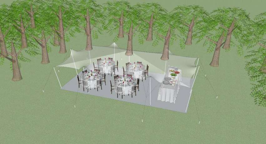 5x10m (50sqm) Stretch Tent for Hire R4911 0