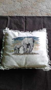 Image of Embroidered Cushion, Doilies & Cloths.