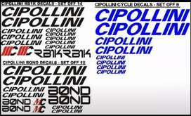Cipolloni bicycle frame stickers decals sets