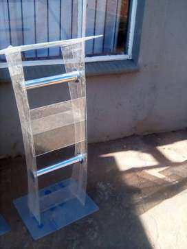 Clear Acrylic Pulpits On Sale Including FREE Logo, Delivery