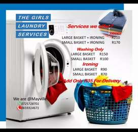 I'm doing washing and ironing if you're interested inbox me