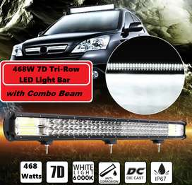 468W LED Tri-Row 7D Reflector Light Bar with Combo Beam.Brand New Item