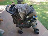 Image of Pram with car seat