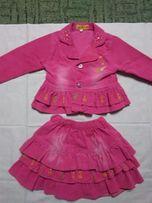 Костюм юбка+пиджак вельветовый