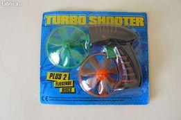 Pistolet do puszczania wiatraczków TURBO SHOOTER! NOWY!Duża ilość!