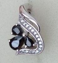 Серьги серебрянные родированные красивые