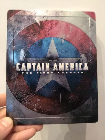 Film Capitan Ameryka blu rey 3D metalowe pudełko Poświętne - image 1