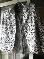 Жакет черно-белый с рисунком, р-р 50, пиджак