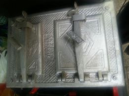 Drzwiczki do pieca kaflowego solidne żeliwne