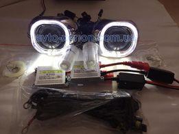 """Биксеноновые линзы G6 3"""" с LED DRL квадро глазки установочный комплект"""