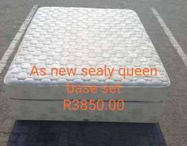 Queen Seally bed Base Set for Sale in Port Edward
