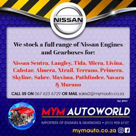 Imported Used NISSAN ENGINES & GEARBOXES for sale at MYM AUTOWORLD
