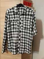 Meska koszula krata podwijane rękaw 40/L