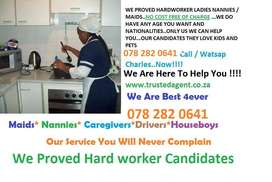 BEST NANNIES/MAIDS AVAILABLE