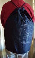 Торба - рюкзак. Привезен из Германии. Цвет темно - синий.