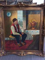 """Голландская живопись 1974г.""""Голландец у печи"""""""